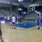 Entrenamiento de Palencia Baloncesto ayer por la tarde en el Centro de Tecnificación de Alicante.