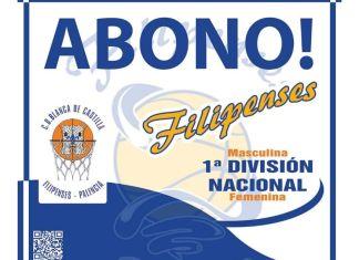 Cartel de la Campaña de socios 2015/2016 de Filipenses Baloncesto