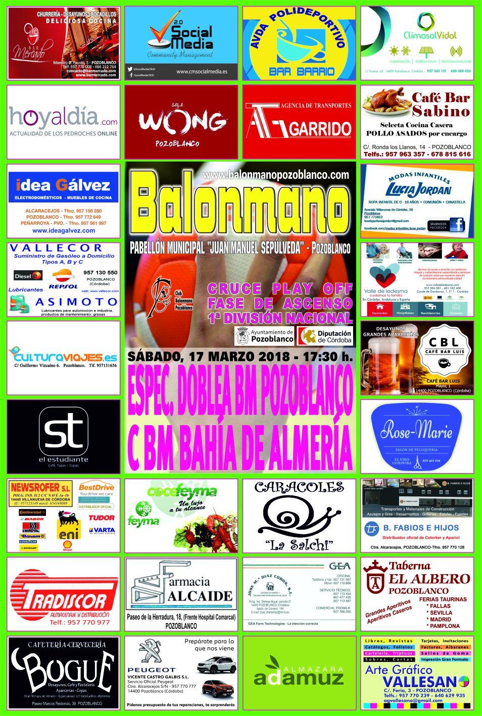 BM Pozoblanco - CBM Bahia de Almeria
