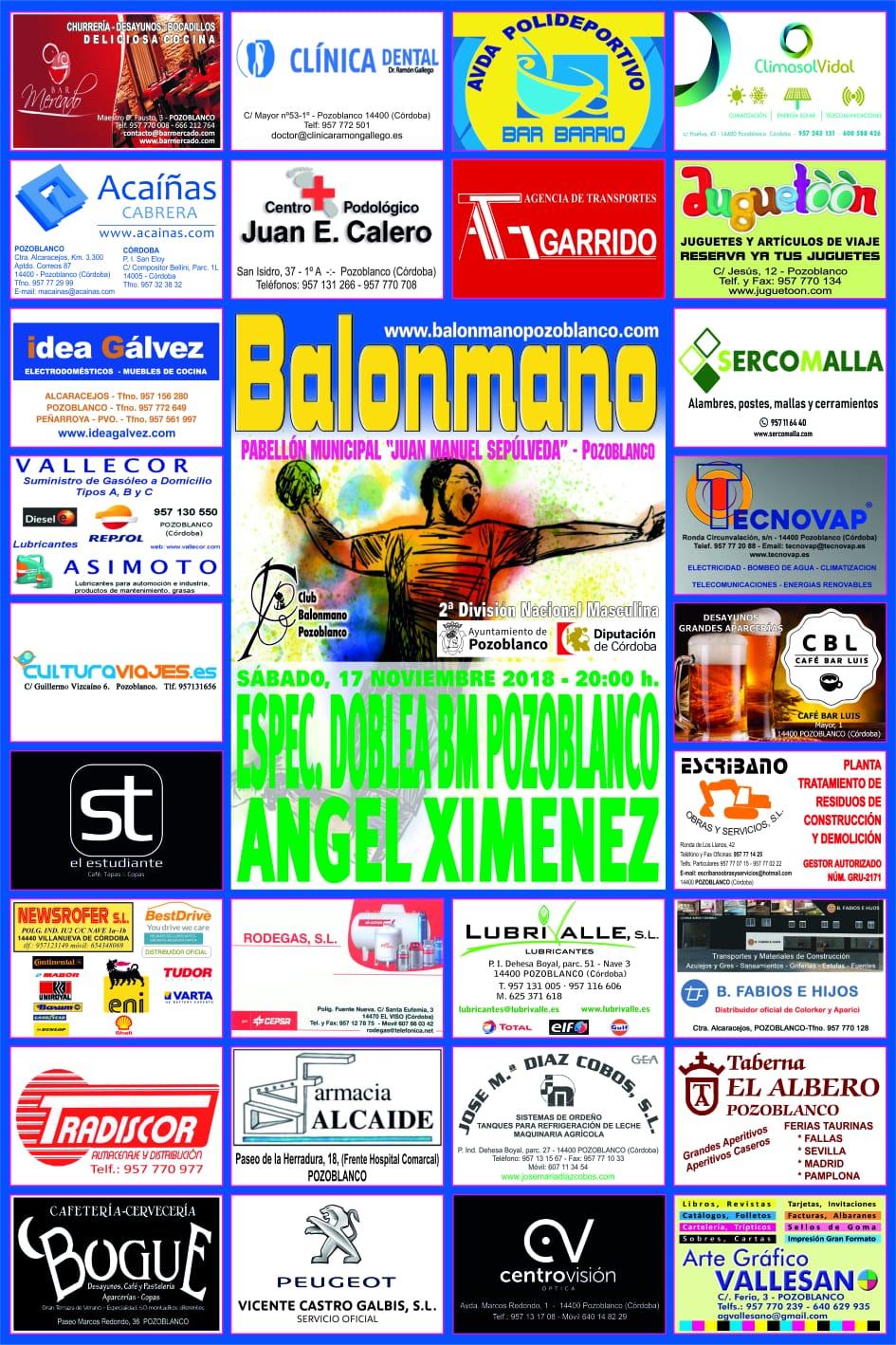 Balonmano Pozoblanco - Angel Ximenez - Noviembre 2018