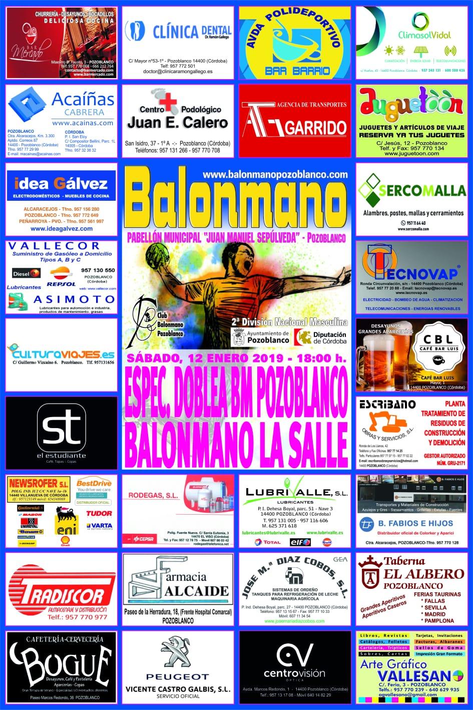 BM Pozoblanco - BM La Salle - Enero 2019
