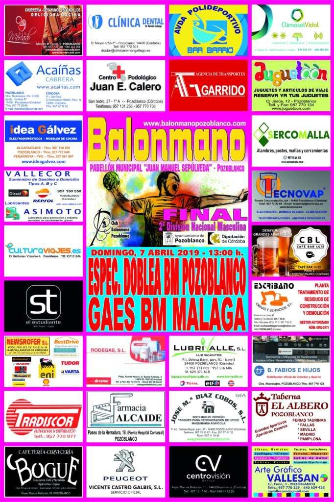 BM Pozoblanco - BM Malaga - Final Andalucia 2019