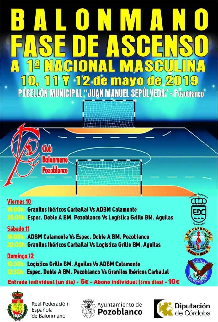 Balonmano - Fase ascenso primera nacional masculina - Pozoblanco