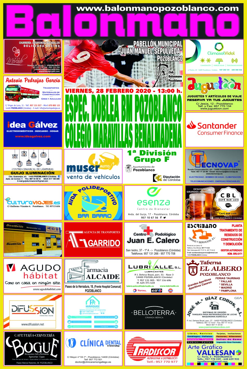 Balonmano Pozoblanco - Colegio Maravillas Benalmádena
