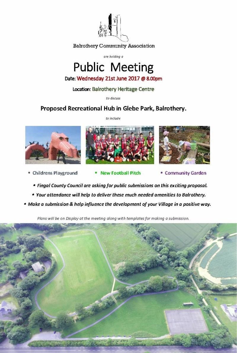 BCA - Flyer for Public Meeting re. Glebe Park (final)(2)