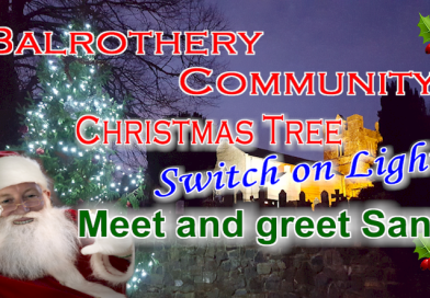 Village Christmas tree lighting