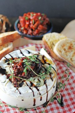 Bake Camembert With Black Garlic & Balsamic Sun Dried Tomatoes