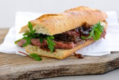 Black Garlic Steak Sandwich