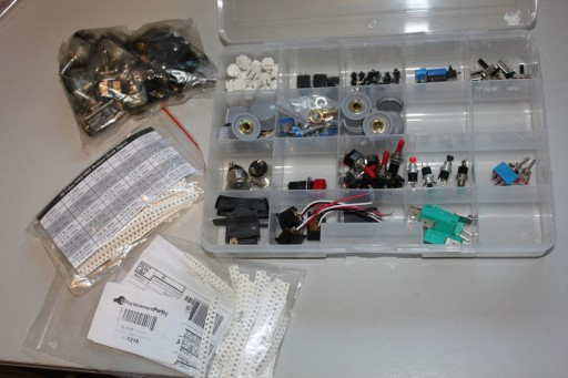 Bins and bags of parts