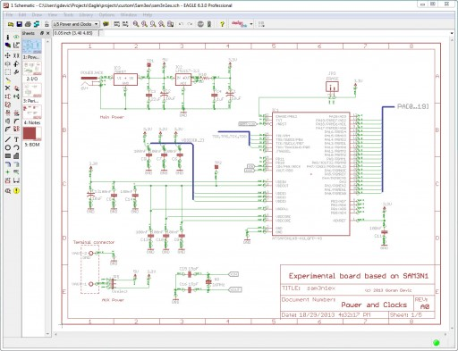 Completed Eagle schematics