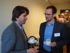 Ivars Vanadzins (Latvia) and Carsten Brück (Germany) changing ideas at the coffee break.