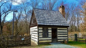Log Cabin Replica at Benjamin Banneker Historical Museum and Park–Catonsville