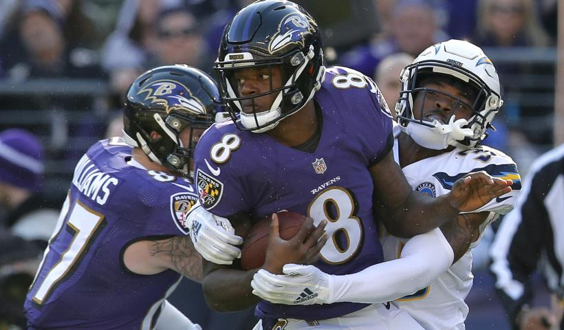 Lamar Jackson Ravens Chargers 2019 playoffs 2018