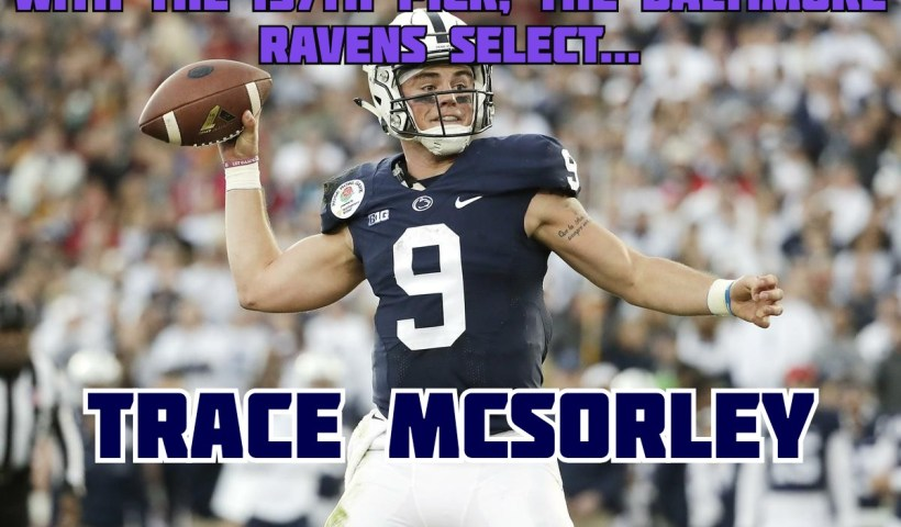 Trace McSorley Baltimore Ravens