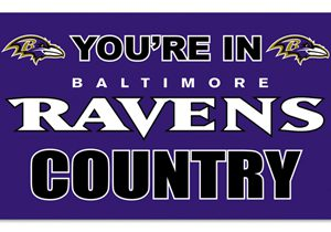 Your in Ravens Country 3X5 Flag