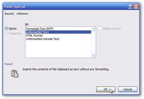 Word 2007: Texto sin formato