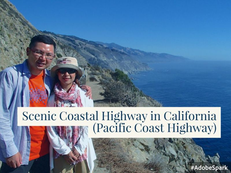 Scenic Coastal Highway in California (Pacific Coast Highway)