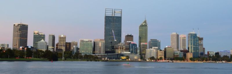 Perth CBD skyline viewed from South Perth Esplanade (Nov2014)