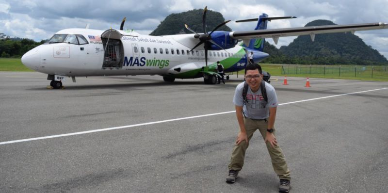 ATR-72 Turboprop in Mulu @2015