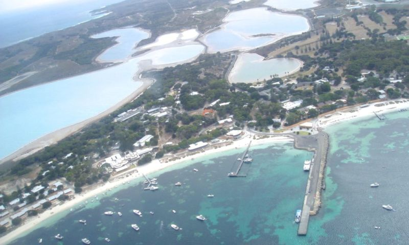 Aerial view Rottnest island, jetty area @2005