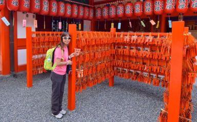 Mini-torii wishing plaques, Fushimi Inari, Kyoto