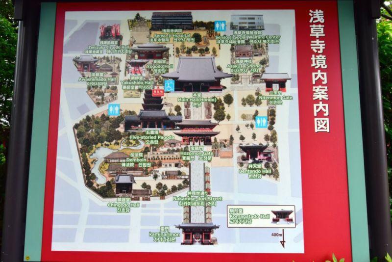 Map of Sensō-ji temple