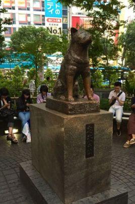 Hachikō Statue, Shibuya station @2015