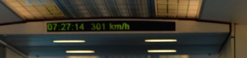 Max speed 301km/hr, Maglev Train. Shanghai @2015