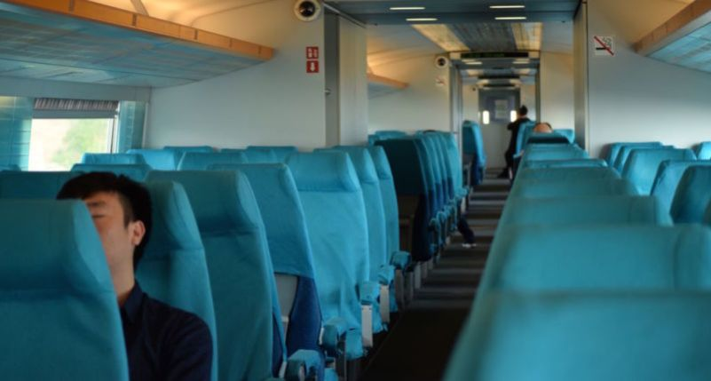 Almost empty Maglev Train, Shanghai @2015