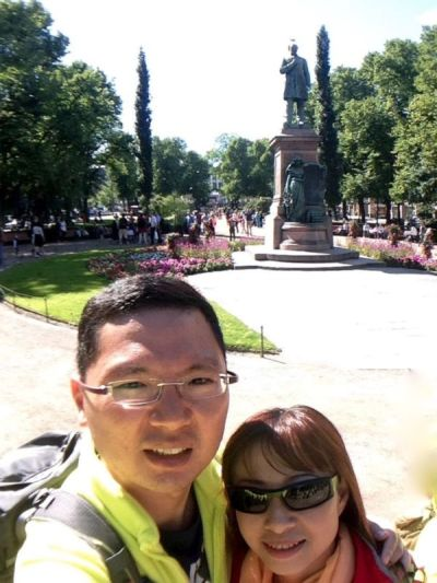 Selfie at The Esplanadi Park, Helsinki, Finland
