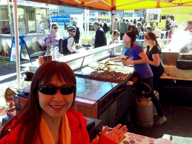 Seafood stall at The Market Square (Kauppatori), Helsinki, Finland