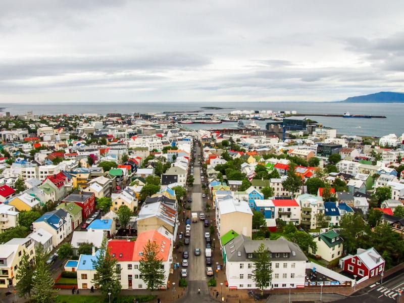View from top of Hallgrímskirkja (Reykjavik, Iceland)