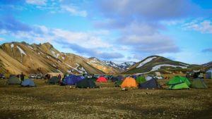 Campsite at Landmannalaugar.