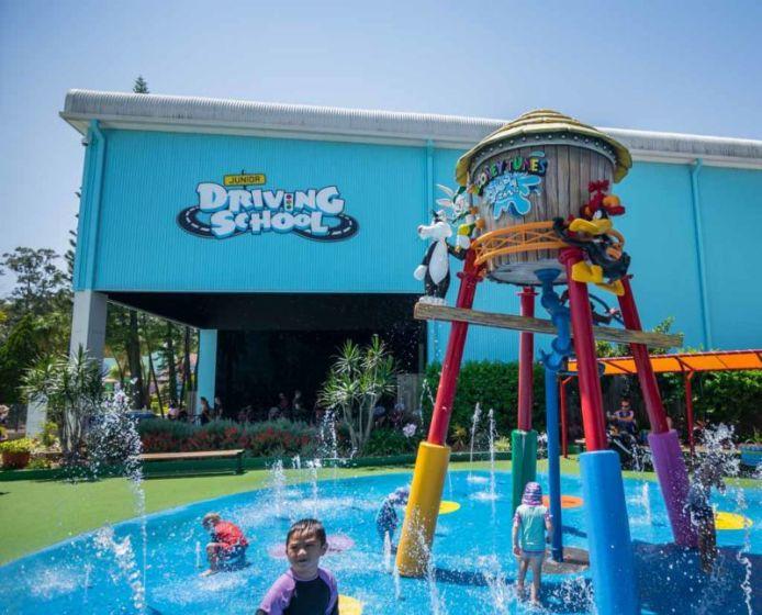 The indoor Junior Driving School and outdoor Splash Zone