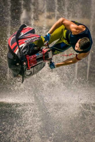 Jet Stunt Extreme show. Featuring some of the world's best jetski stunt performers.