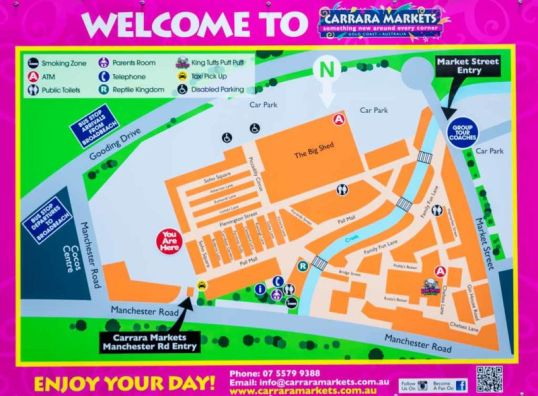 Layout of Carrara Markets