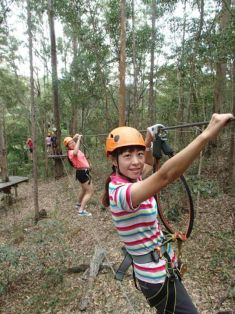 TreeTop Challenge: One of the many wire challenges. Courses are categorized into difficulty levels, allow participant to suit their preference.