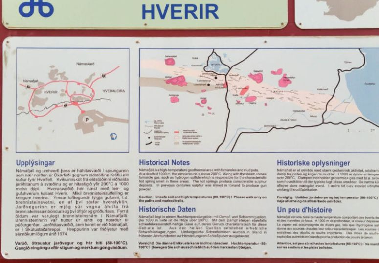 Write-up and map of Hverarondor Hverir and Námafjall