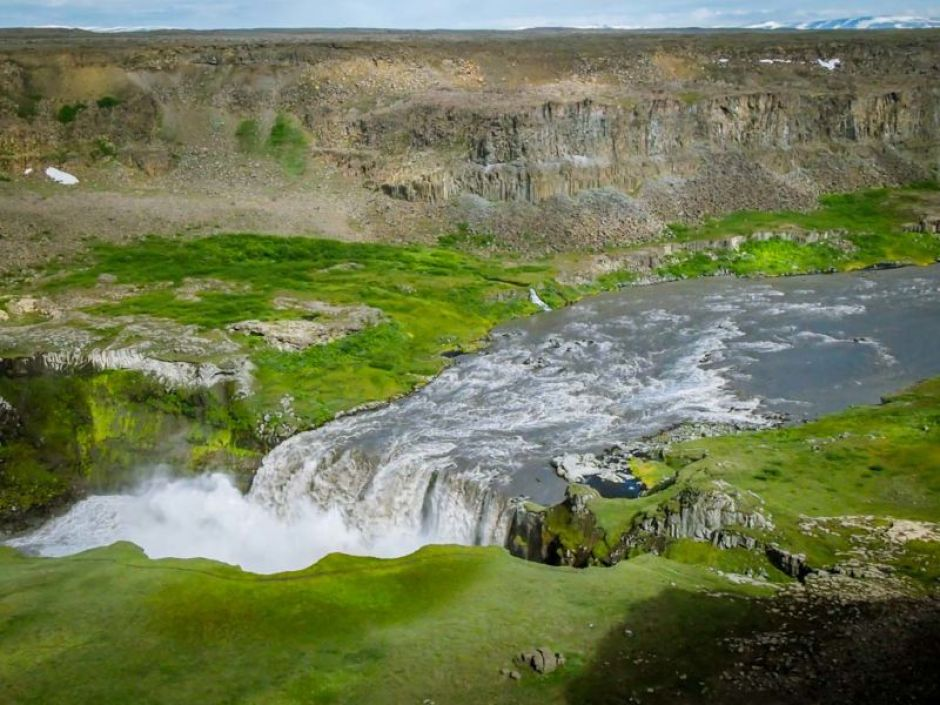 Hafragilsfoss. View accessible via gravel road near Dettifoss carpark (route#862)