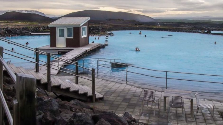 Mývatn Nature Baths; warm yourself in the hot nature pool while the ambient temperature is plunging as evening approaches.