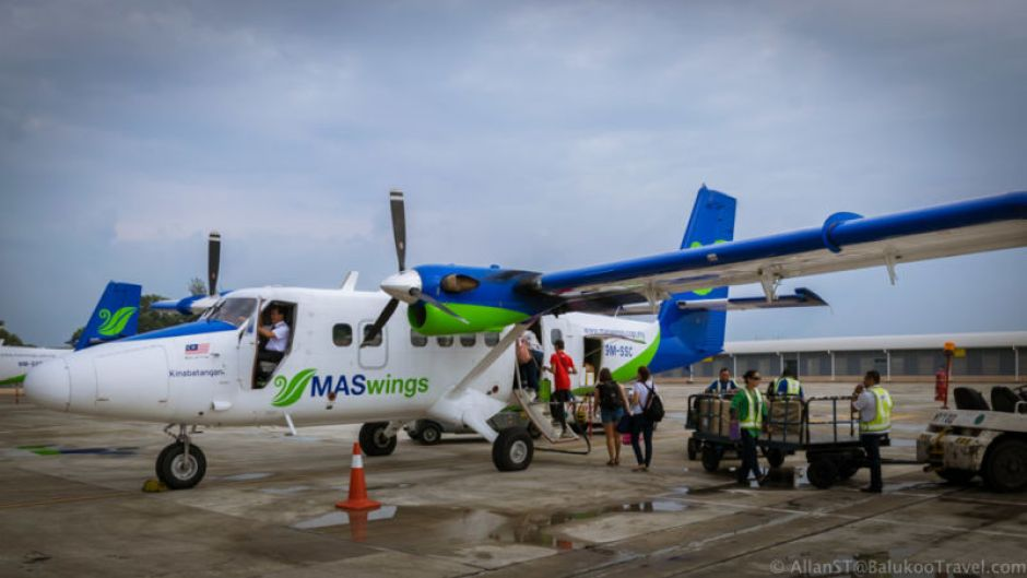 Flight to Bario on 19-seater turboprop Twin Otter planes.