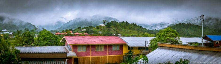 View from The Ngimat Ayu House, Bario (Sarawak, Malaysia)