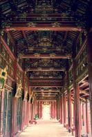 Corridor in Hue Imperial City, Vietnam.