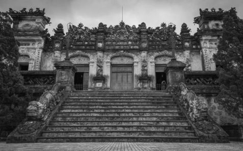 Khai Dinh's Tomb. A good mix of Eastern and Western architecture styles. (Hue, Central Vietnam)