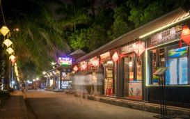 The 400m long Hue Walking Street is located on the southern banks of the Perfume River. (Hue, Central Vietnam)