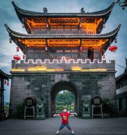 Pier in HuangLongXi Ancient town (Chengdu, China)