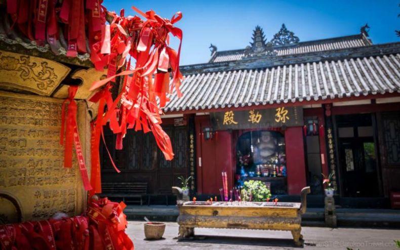 GuLong Temple. HuangLongXi Ancient town (Chengdu, China)