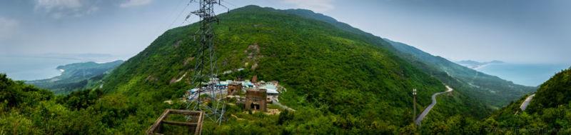 View from top of Hai Van Pass (Da Nang, Vietnam)