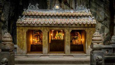 Buddhist grotto on Water Mountain. (Da Nang, Vietnam)