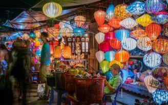 Hoi An is famous for its colorful lanterns. (Da Nang, Vietnam)